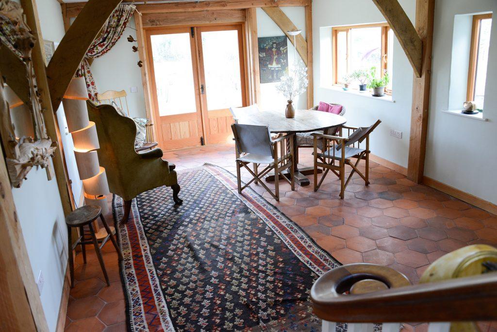 Beautiful handmade terracotta floor tiles